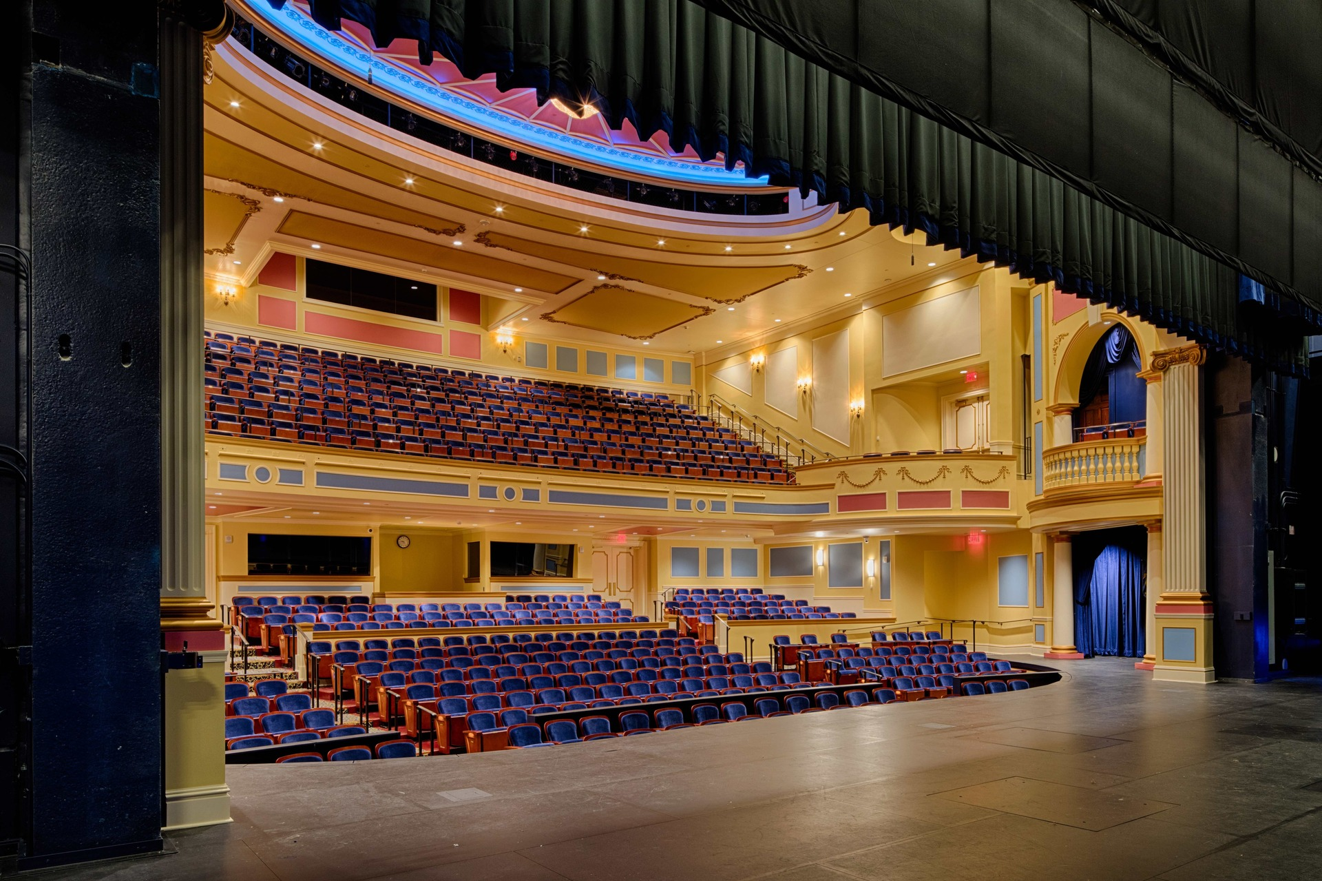 The gorgeous and luminous Theater Hall at the Providence Academy: Performing Arts Center in Plymouth, Minnesota, by Stahl.