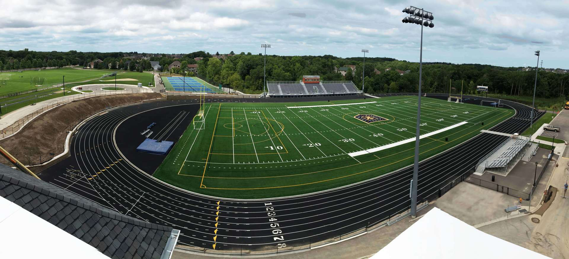 The new track and field at Providence Academy in Plymouth, Minnesota, by Stahl.