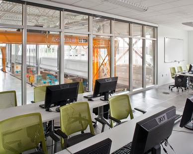 The roomy classroom at the UMD: Swenson Civil Engineering Building in Duluth, Minnesota, by Stahl.