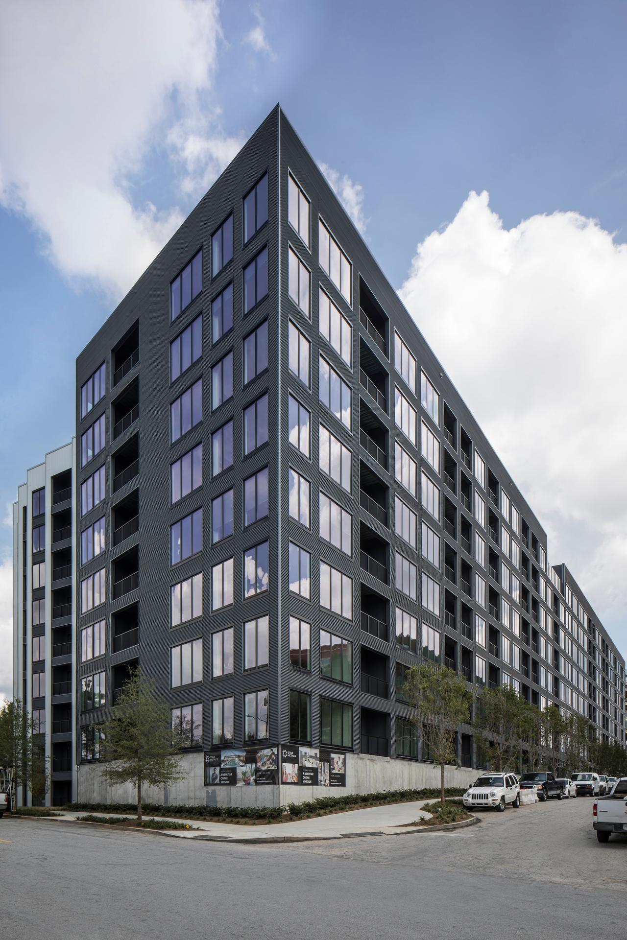 Star Metals Atlanta Apartment Complex Construction Project Impervia Fixed Frame Windows