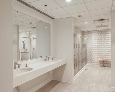 Stunning bathroom remodel at the Jet 55 office complex in Plymouth, Minnesota.