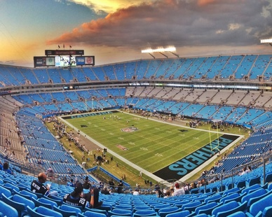 Gorgeous open concept space inside Bank of America Stadium in Charlotte, NC. STI Firestop was proud to provide our unique and innovative firestopping products to this project.
