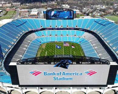 STI Firestop worked diligently on the Bank of America Stadium in Charlotte, NC.