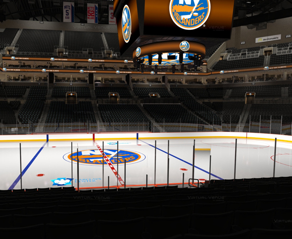 Interior view of the ice rink at Barclays Center in Brooklyn, NY. STI Firestop was proud to provide our innovative firestopping products on this project