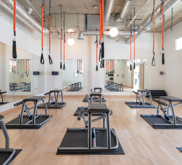 Strand Design Resistance Movement Pilates training room