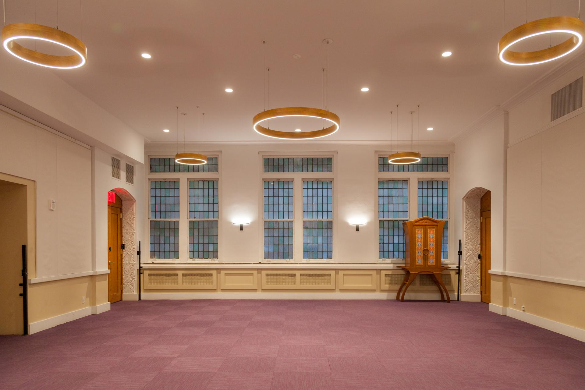 Structura Bnai Jeshurun Synagogue New York Common Area and Versatility Room Pendant Lighting
