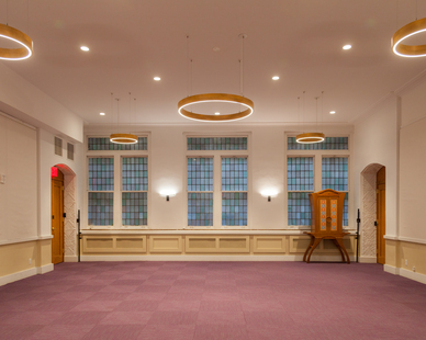 Structura Bnai Jeshurun Synagogue New York Common Area and Versatility Room Pendant Lighting