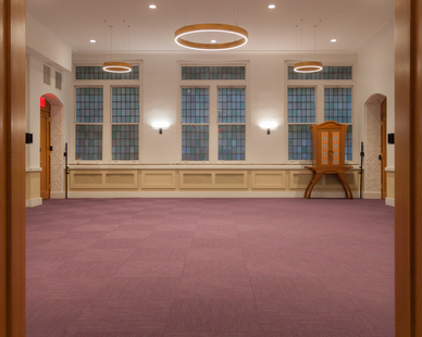 Structura Bnai Jeshurun Synagogue New York Common Area Windows and Carpet