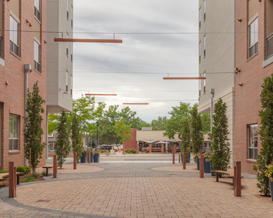Utilize modern lighting fixtures for your outdoor spaces. Our Aura Linear and Mac LED bollards are the perfect choice to uplift your outdoor courtyard designs.