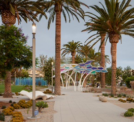 Structura Water and Wellness Park Design Irvine California Public Park Sidewalks