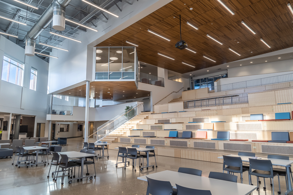 A transformed school setting provides flexibility and interaction that fosters an atmosphere of collaboration and teamwork.