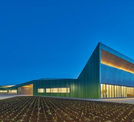Sunset Photo Exterior Coil Coating Sherwin Williams Blackwell Architects Thaden School