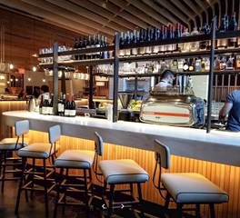 Surfacing Solution Boqueria01 White Oak Flexible Tambour Bar