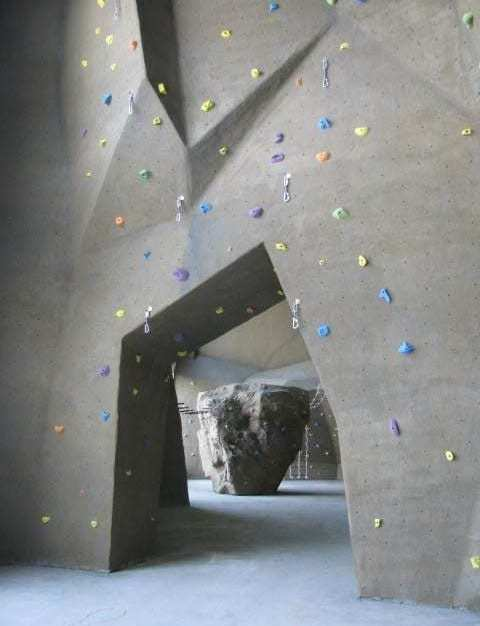 The Life Time Athletic fitness center in Syosset, NY features an impressive 4,219 sq. ft. High Performance climbing wall.