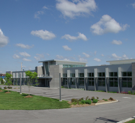 Tate Bick Headquarters exterior parking entry