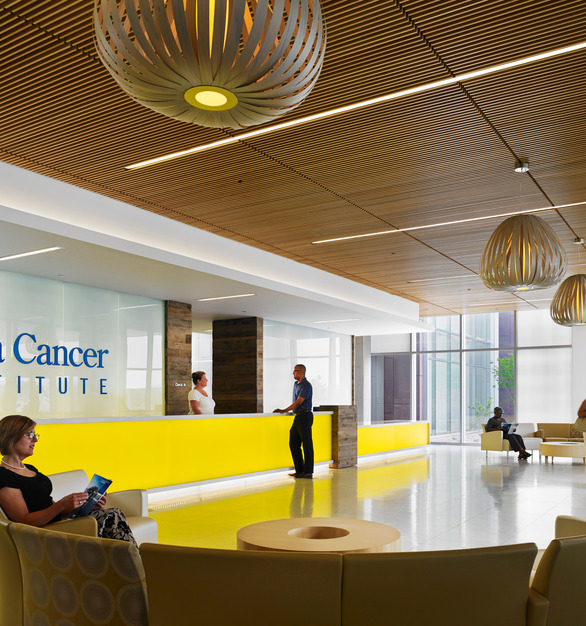 The 86,000 sq ft. Tulsa Cancer Institute comprises of 72,000 sq. ft. of raised access floors including 12,000 sq. ft. of Tate's Nurrazzo finish on two levels.