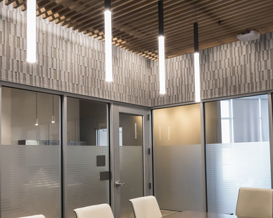 The minimalistic boardroom featuring glowstick lighting by OCL. We provide a wide range of lines from the basic and essential to the new and state-of-the-art