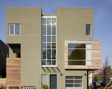 Unique design of Temescal Station Townhouses and Condos in Oakland, CA.