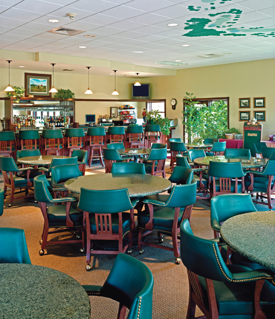 Temple Terrace Country Club features vibrant seating by Gasser Chair.