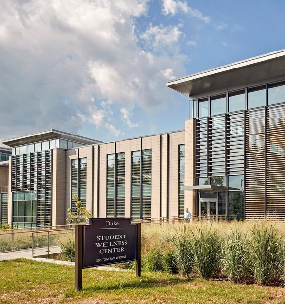 Terreal was used on the exterior at Duke Health and Wellness Center in Durham, NC.