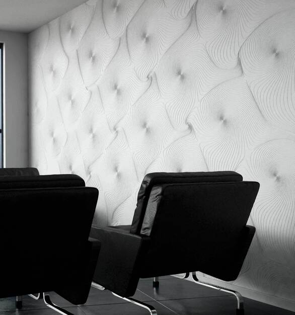 Durasein partnered with Patternine to bring a Durasein branded line of parametric wall paneling designs.