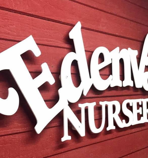 Featured here at the Edenvale Nursery in Mankato, Minnesota is a custom metal sign by The Foundry LLC.