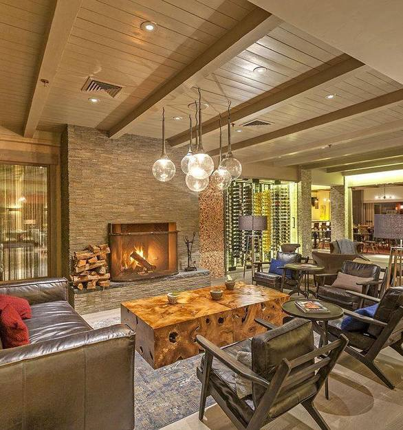 The Bernardus Lodge & Spa restaurant in Carmel, California uses custom French Connection hardwood flooring in the entire restaurant, including the lounge area.