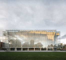 The Grand Theatre of Quebec Exterior Glass Facade with View of Courtyard