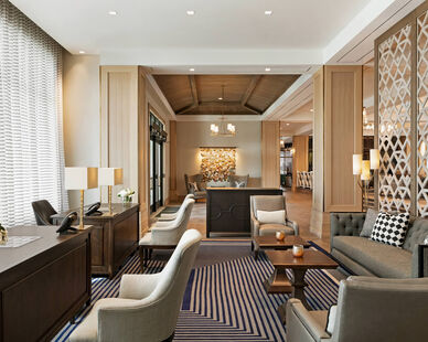 Townsend Leather's Classic Pyrite was used on lobby chairs in The Harpeth Franklin.