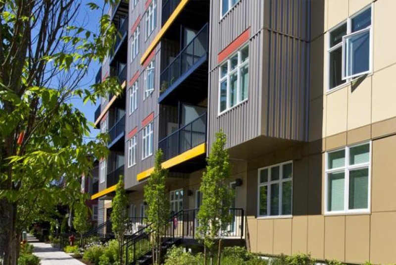 Prefabricated Balconies by Endurable Building Products on the modern Luke Apartments in Redmond, WA