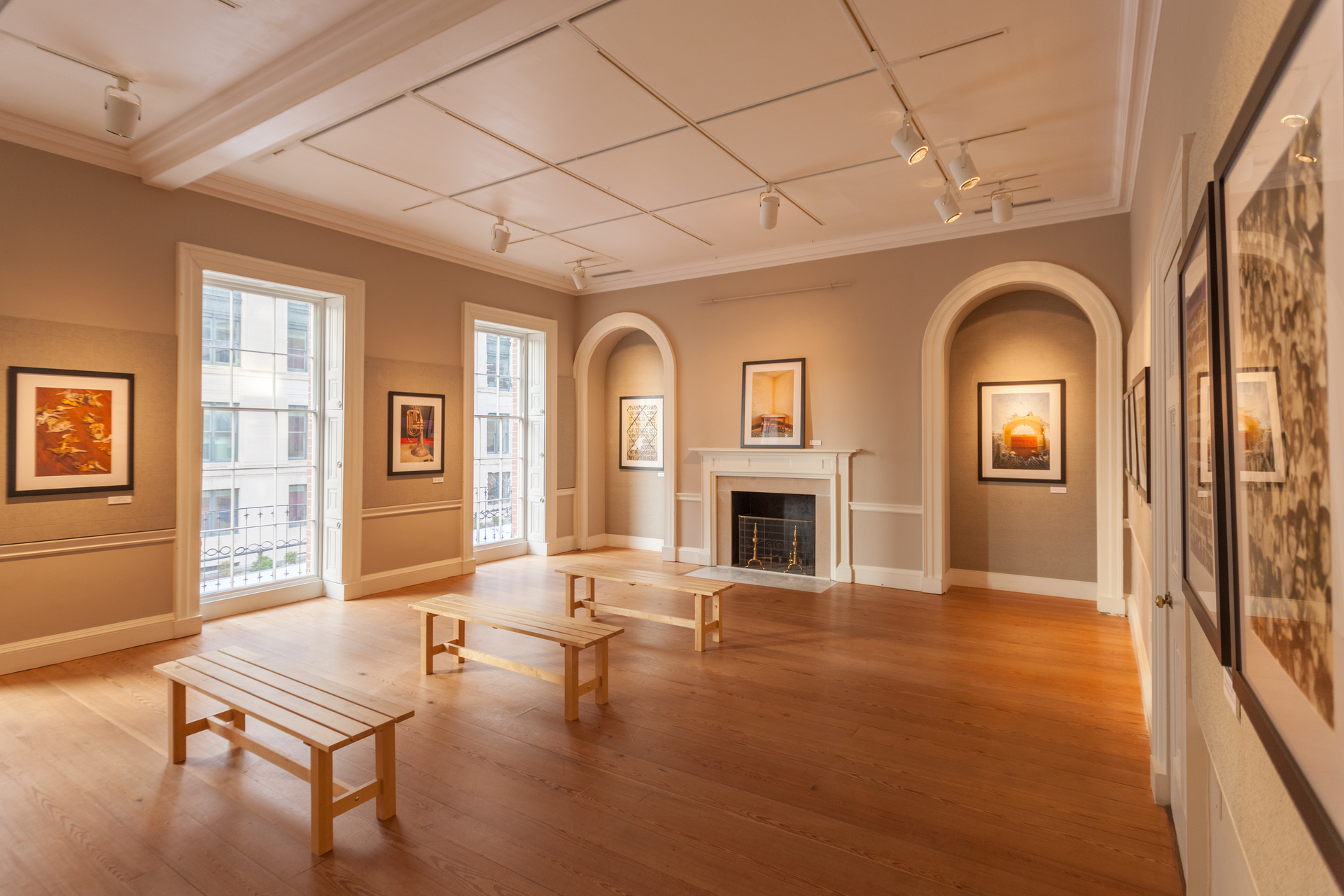 The Octagon Washington DC 18th Street Gallery Windows and Spot Lights