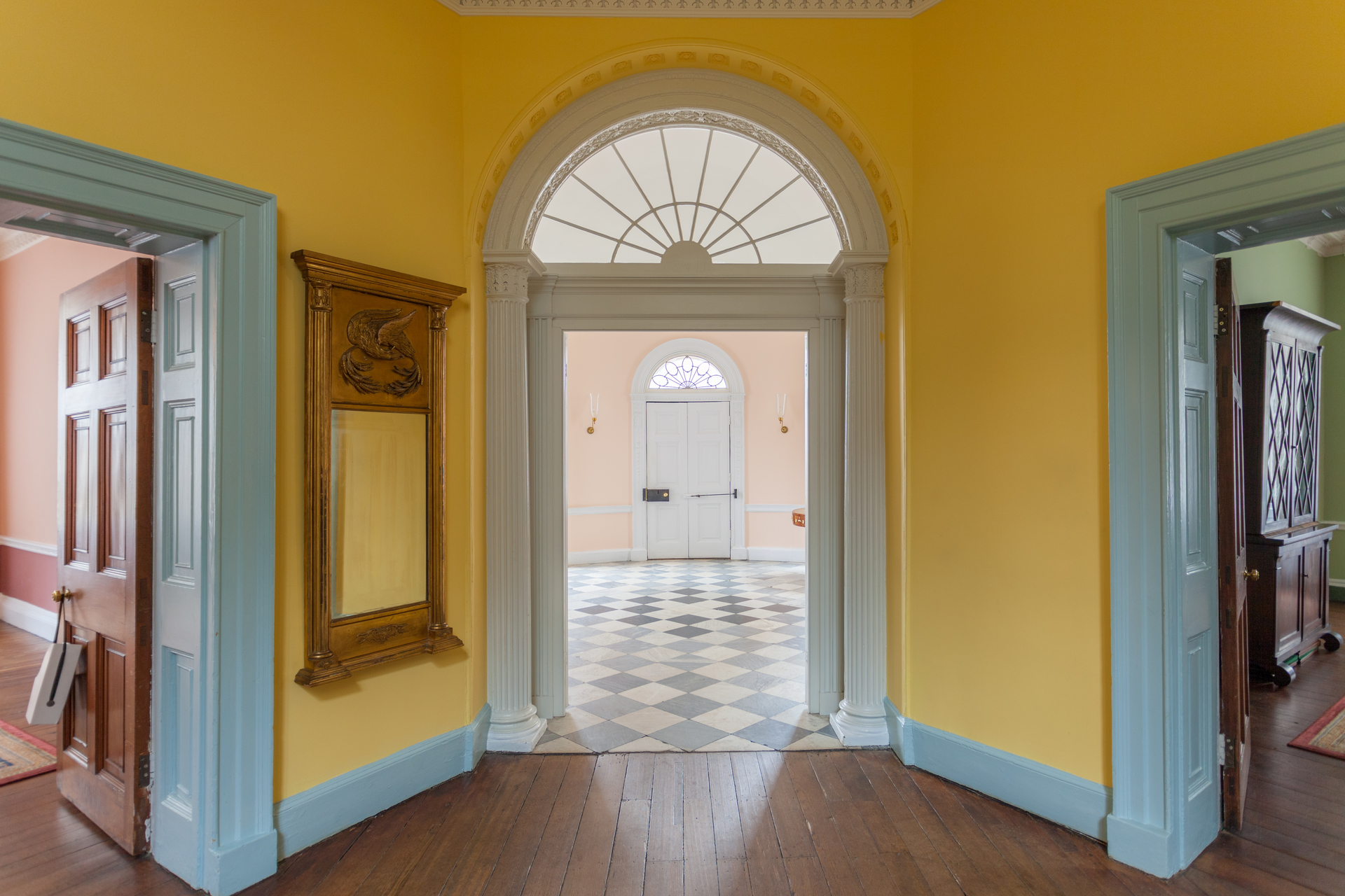 Here you can see the decorative archway on the opposite side of the double doors leading into the Stair Hall.