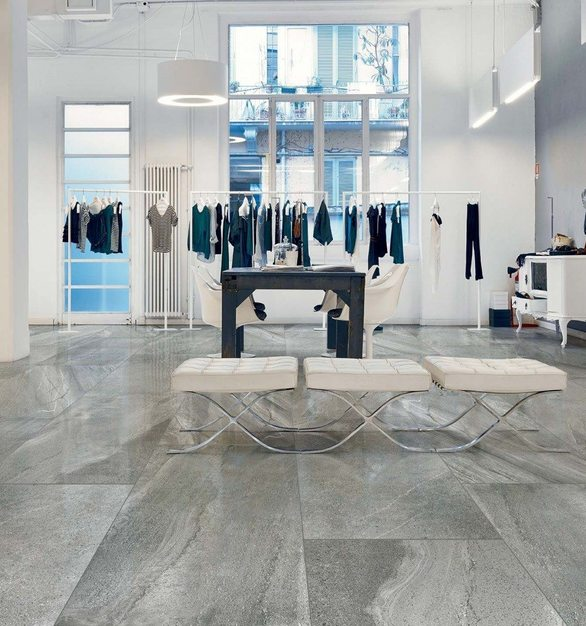 Using the latest in digital printing technology, the Italian Casa Dolce Casa Stones & More porcelains offer the beauty of natural marble and are available in multiple finishes, making them nearly indistinguishable from the original stone that they aim to replicate.
