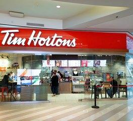 Tim Horton InVision Glass Mall of America Evolution Glass Channel Letter Sign