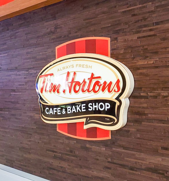 Tim Horton's wall sign at the Mall of America in Bloomington, Minnesota.
