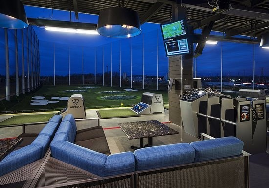 Top Golf in Charlotte, North Carolina used Bock Lighting's beautiful lighting fixtures throughout the space.
