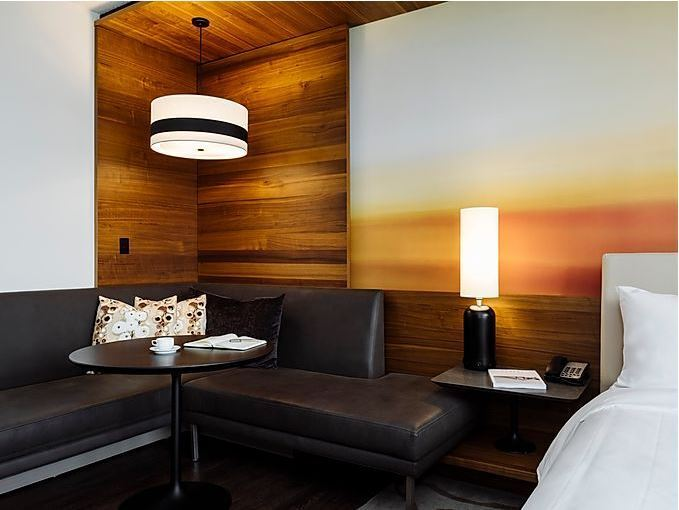 Today, the Atlanta Marriott Marquis is looking better than ever after a dramatic transformation that introduces stylish new amenities and innovative features at every turn.  Guest Room Couch.