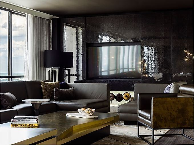 Today, the Atlanta Marriott Marquis is looking better than ever after a dramatic transformation that introduces stylish new amenities and innovative features at every turn.  Townsend Leather was used on the Suite Room Couch.