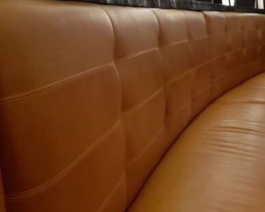 Townsend Leather's Duvel Rustica Cowhide Bavarian Mustard was used in the Jean-Georges Steakhouse at ARIA Resort & Casino.