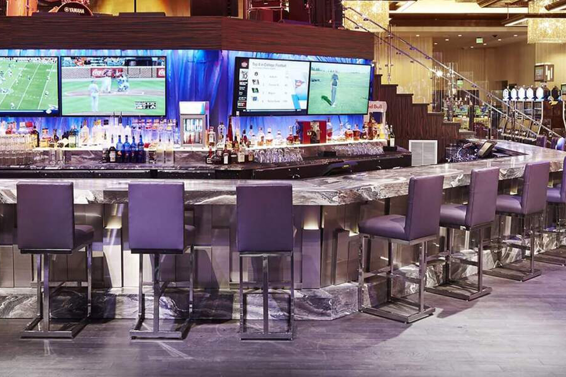 Townsend Leather's Classic Cowhide Royal was used on the Bar Stools at Horseshoe Baltimore Casino.