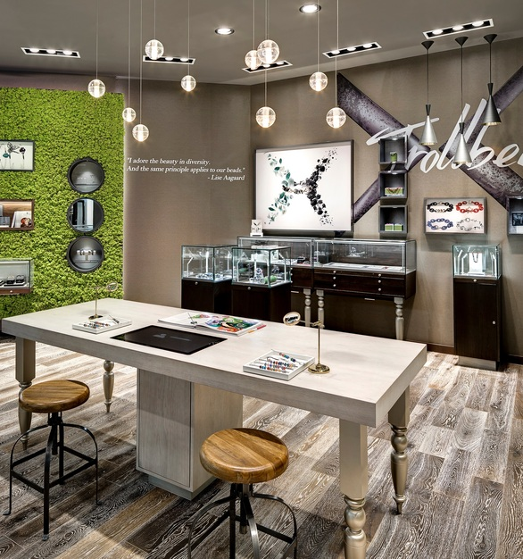 The flooring for this retail store was provided by ASI.
