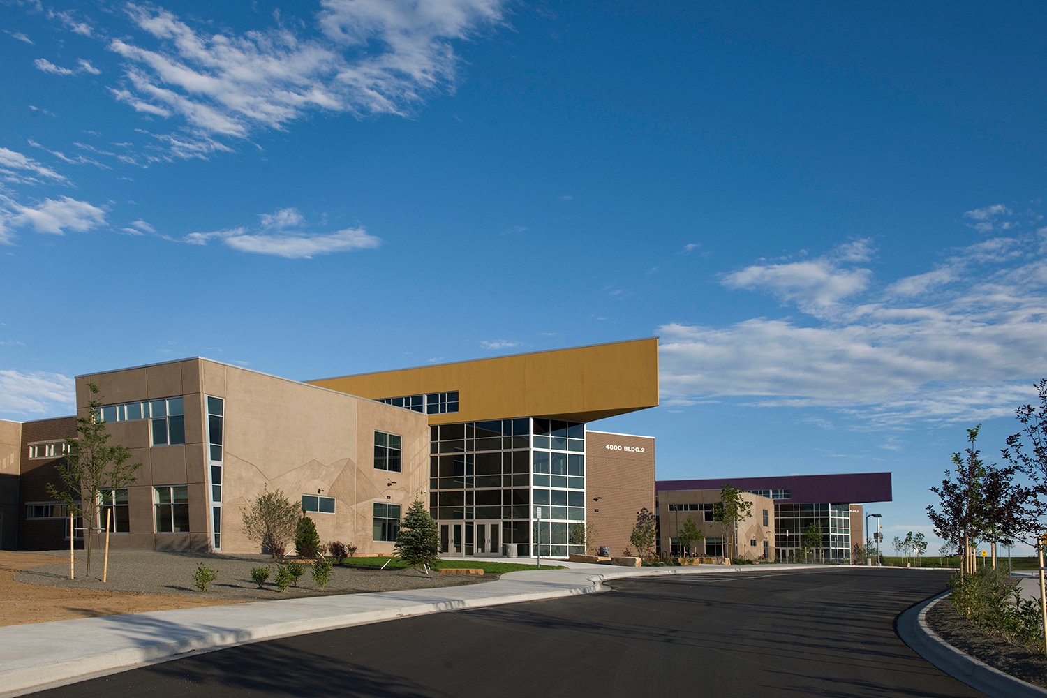 Tubelite helped bring the GVR High School vision to life with reliable products to create an eye-catching curtainwall.