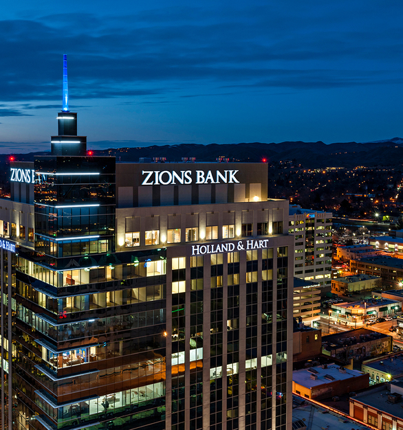 Zions Bank, in Boise, ID, was a curtainwall project completed by Tubelite using their dependable 400 Curtainwall system.