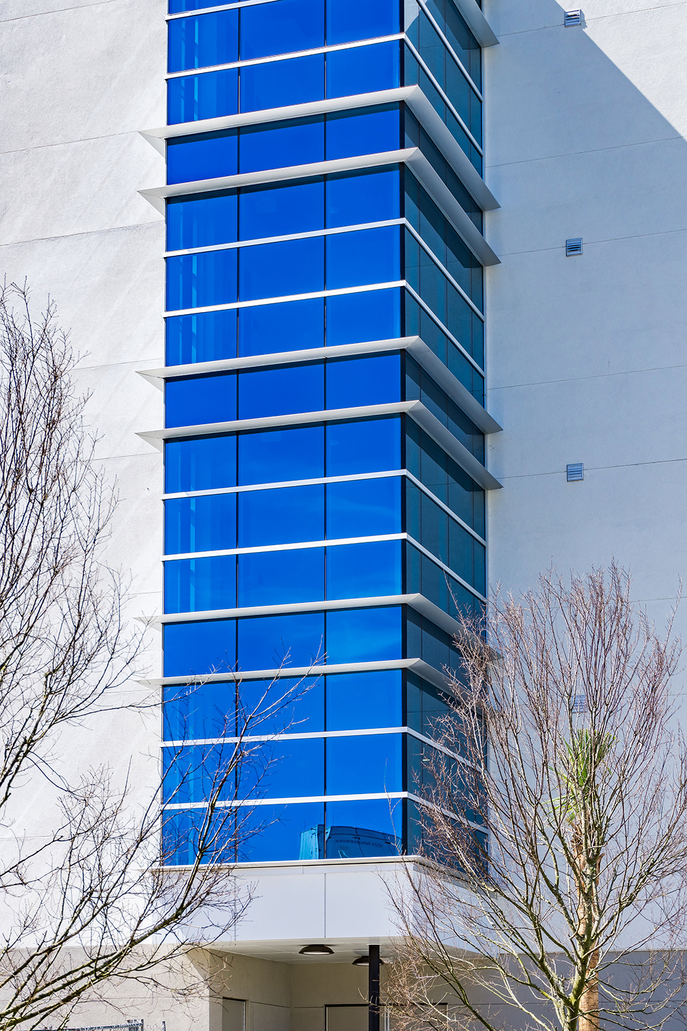 Collaborators of the Embry Riddle curtainwall and entrance project selected Tubelite's reliable 400 Curtainwall and 4500 Storefront Systems to complete this project.  Photographer: Charles LeRette Photography