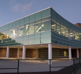 TubeLite Novi High School Fitness Center Exterior Corner View
