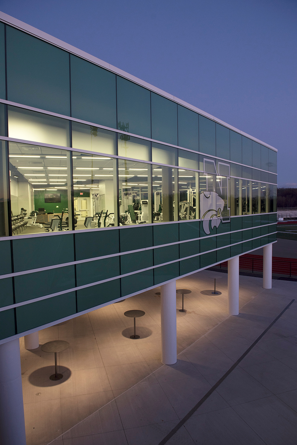 Project stakeholders for the Novi High School curtainwall project trusted the dependability of Tubelite's 400 Curtainwall in Bone White Paint finish.
