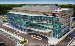 Tubelite Sentara Brock Cancer Center Exterior Front Entrance