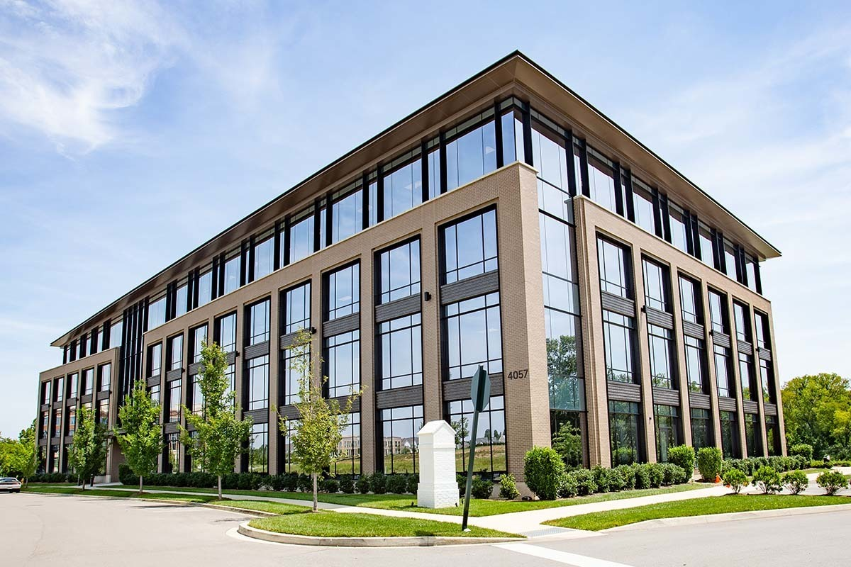 Lee Company Corporate Offices feature Tubelite window technology to achieve the desired exterior design.   Photography Credit: Andi Whiskey