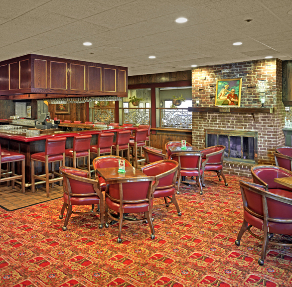 Classic dining and bar area