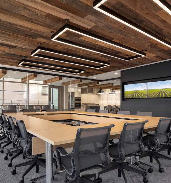 American Prairie Brown Board reclaimed barnwood from agricultural structures across the United States.  Faux timber beams made from reclaimed railyard Oak